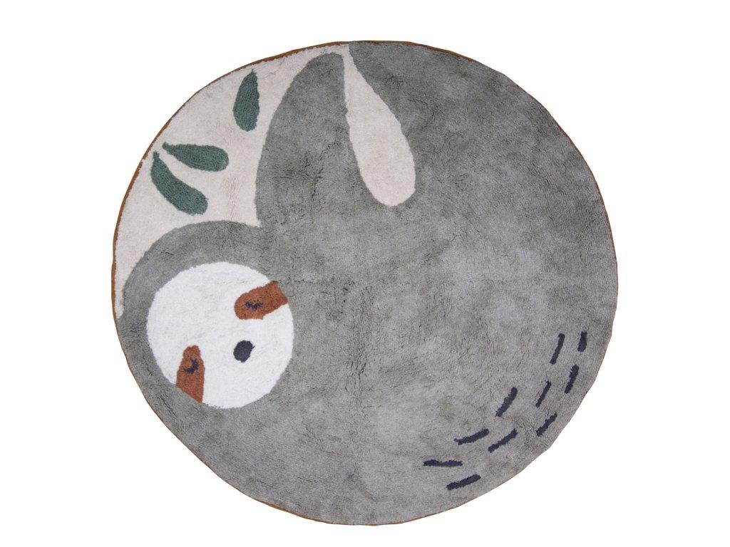 Sebra Bavlněný koberec Lenochod 120 cm