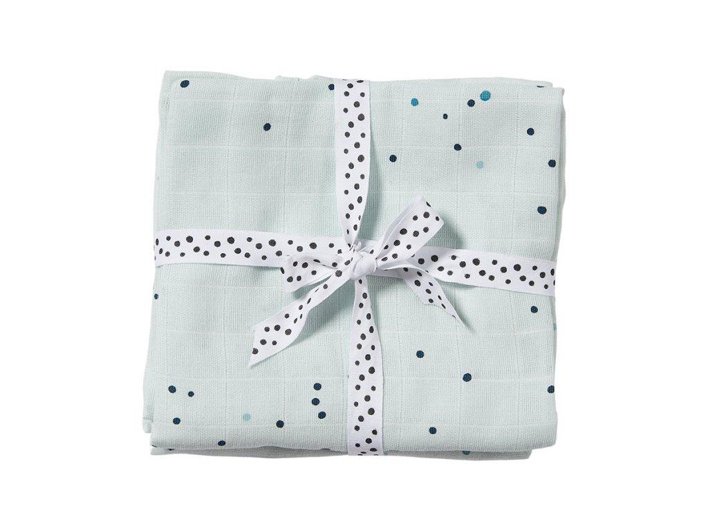 Mušelínové plenky Dreamy Dots 2ks - modré