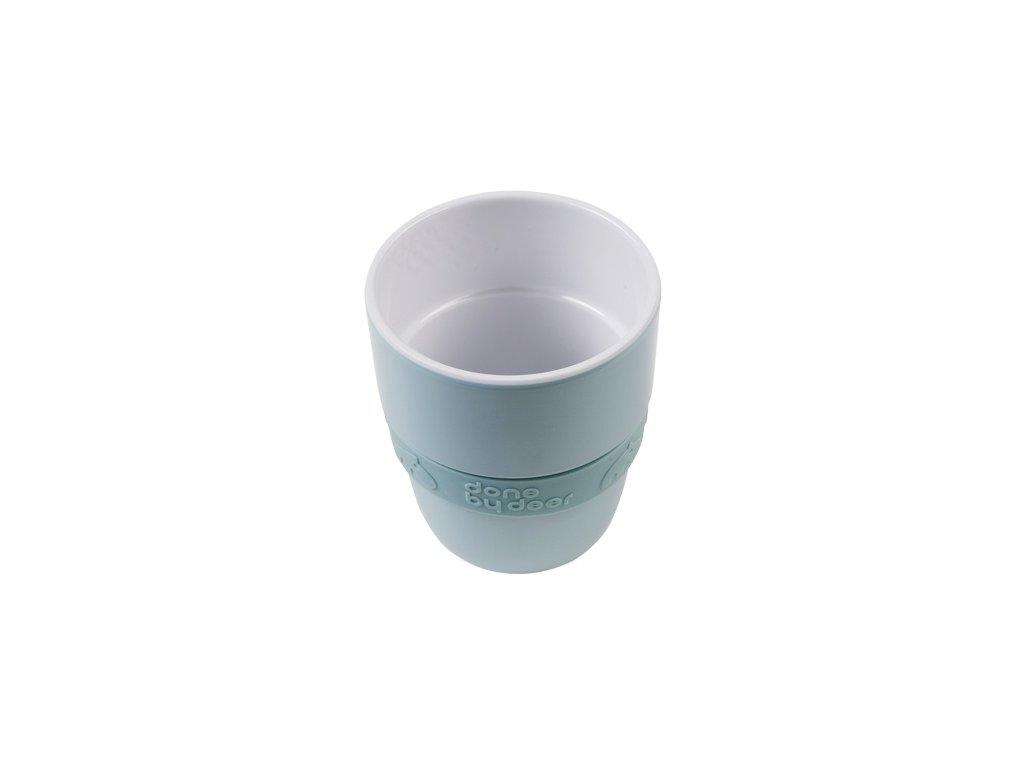 DONE BY DEER Hrníček Elphee Yummy mug se silikonovým kroužkem - modrý