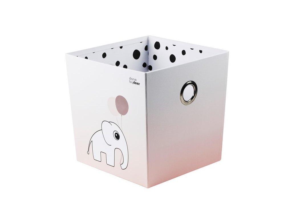 DONE BY DEER Úložný box Happy dots - růžový