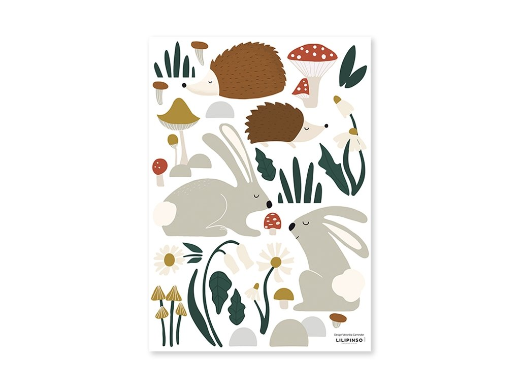 stickers foret animaux chambre bebe decor lilipinso s1355
