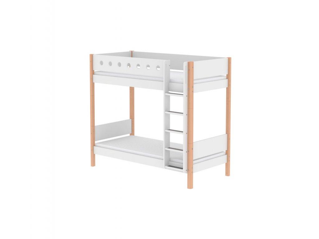 Flexa Patrová postel bílá/natur výška 184 cm