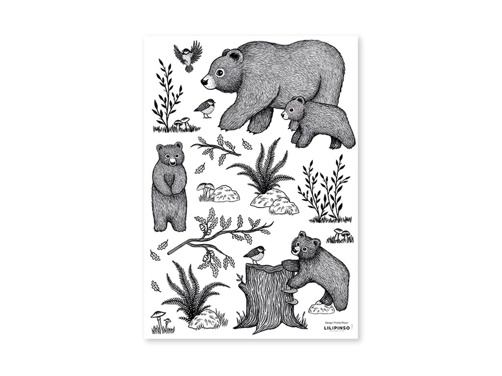 s1406 stickers ours scandinave lilipinso