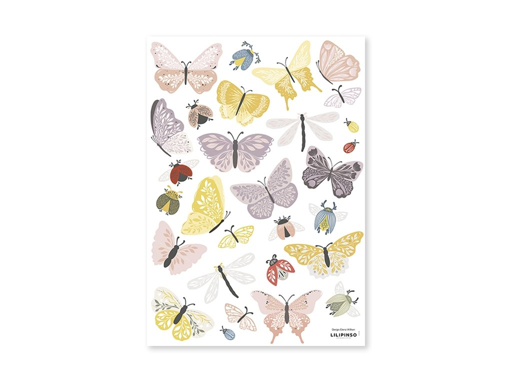 s1418 stickers deco papillons insects lilipinso