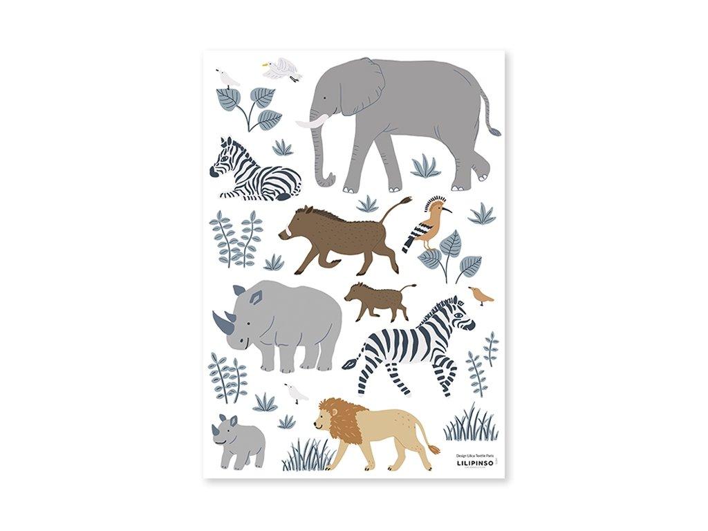 s1397 stickers zebre lion tanzania big five