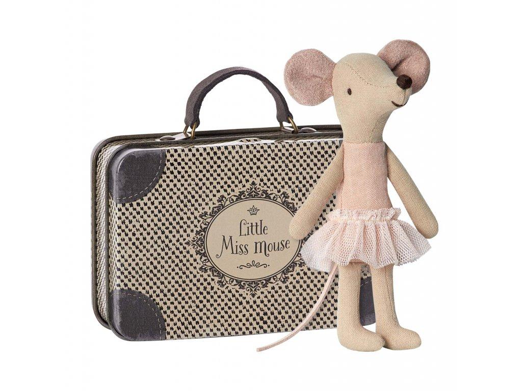 Maileg Myška balerína v kufříku Big Sister