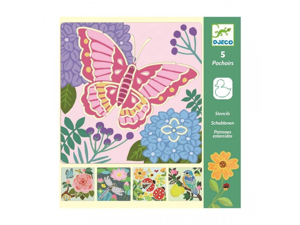 2817 1 sablony pesrobarevna zahrada