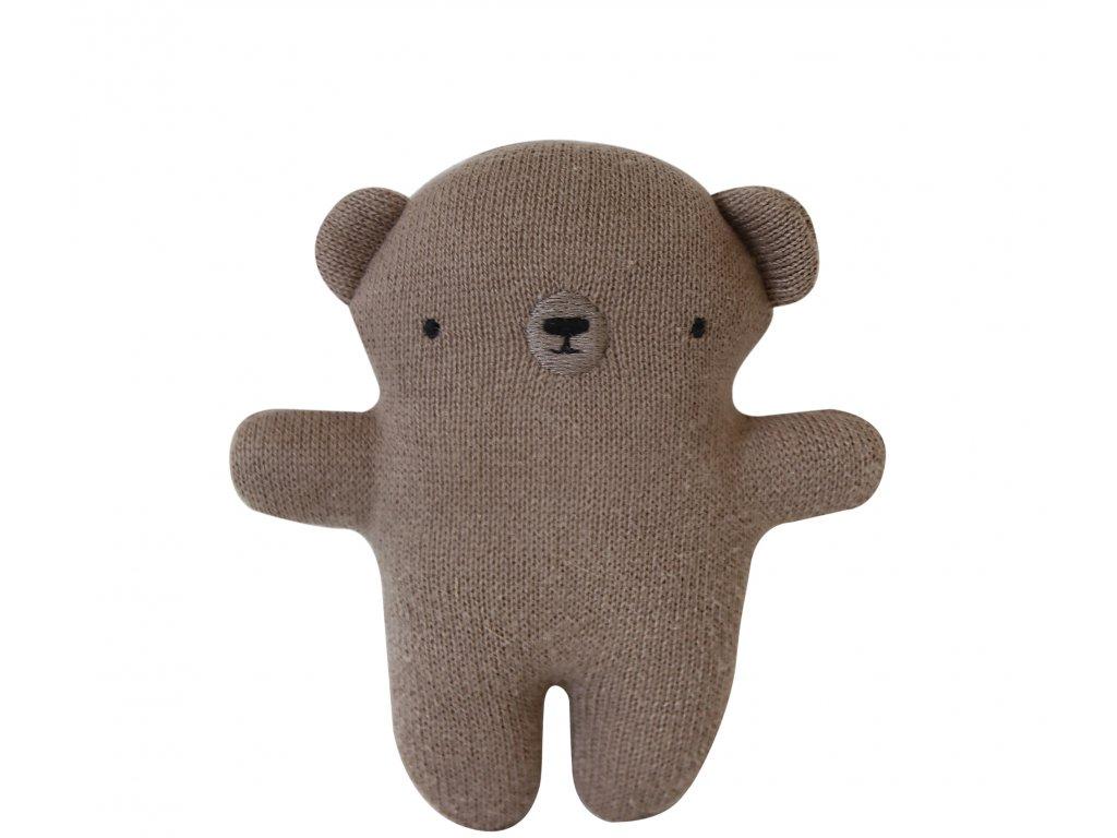 plush rattle bear brown