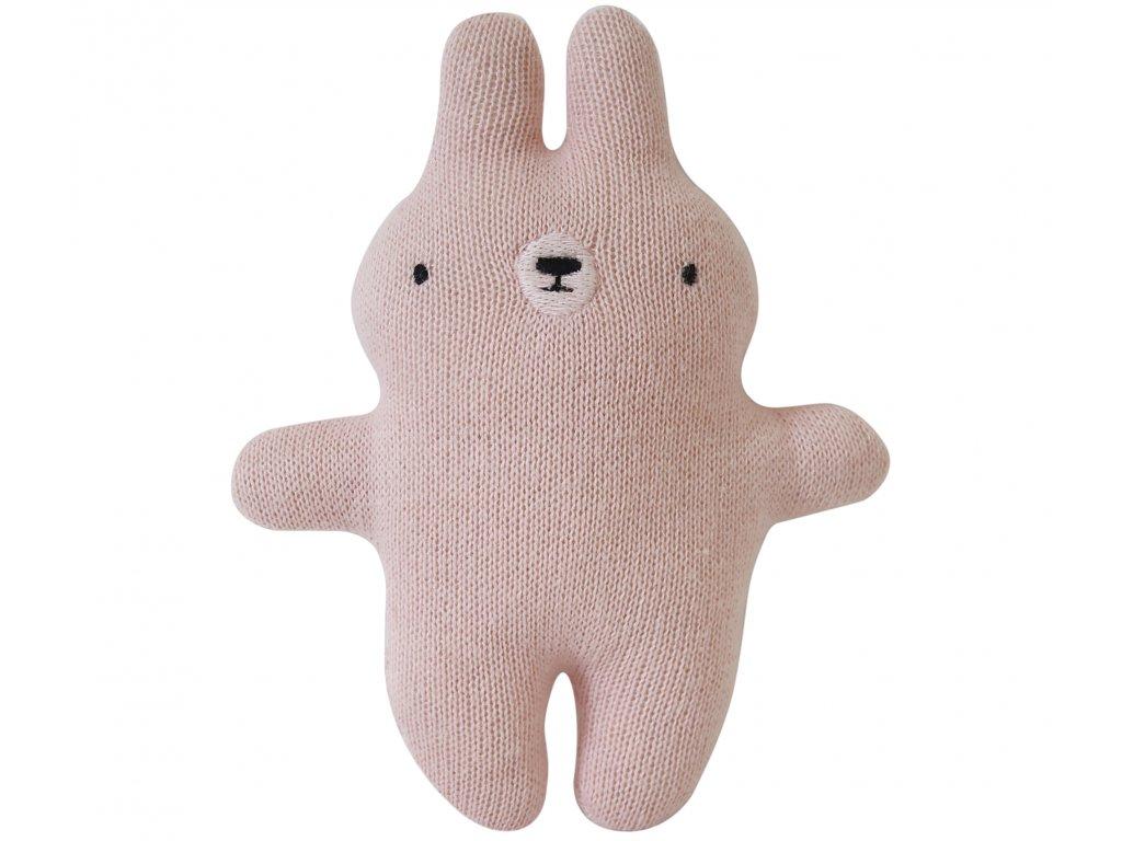 plush rattle bunny pink