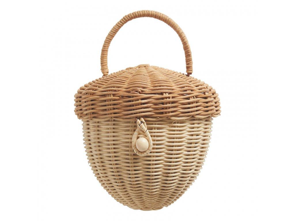wicker acorn basket