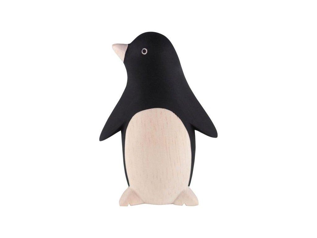 penguin wooden figuirine