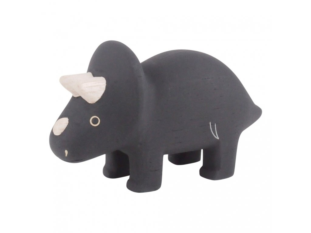 triceratops wooden puppet