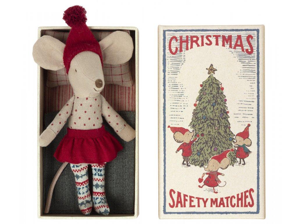 Maileg Vánoční myška v krabičce Big sister