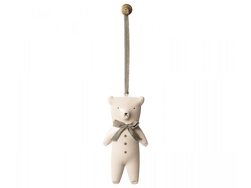 Maileg Vánoční kovová ozdoba medvídek