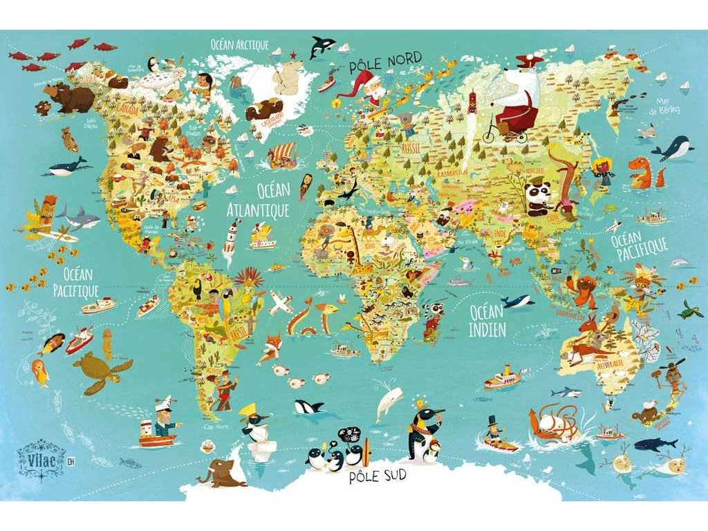 vilac puzzle mapa sveta 500 dilku