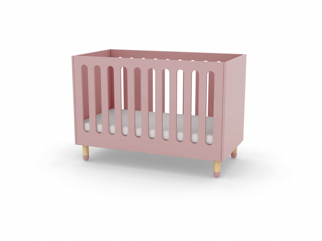 Flexa Play Dětská postýlka 124 x 64 cm Růžová