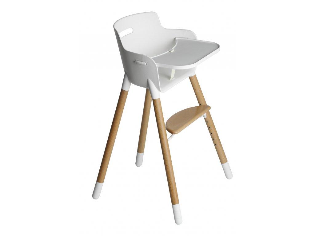 Flexa Dětská židlička s pultíkem Buk