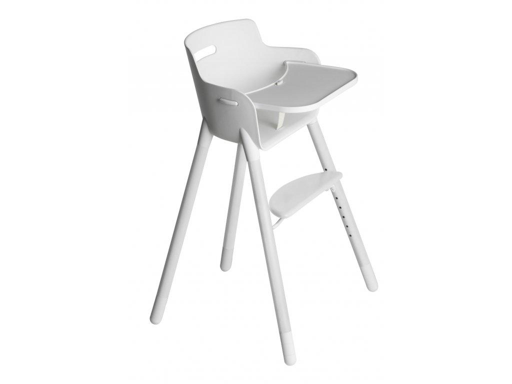 Flexa Dětská židlička s pultíkem Bílá
