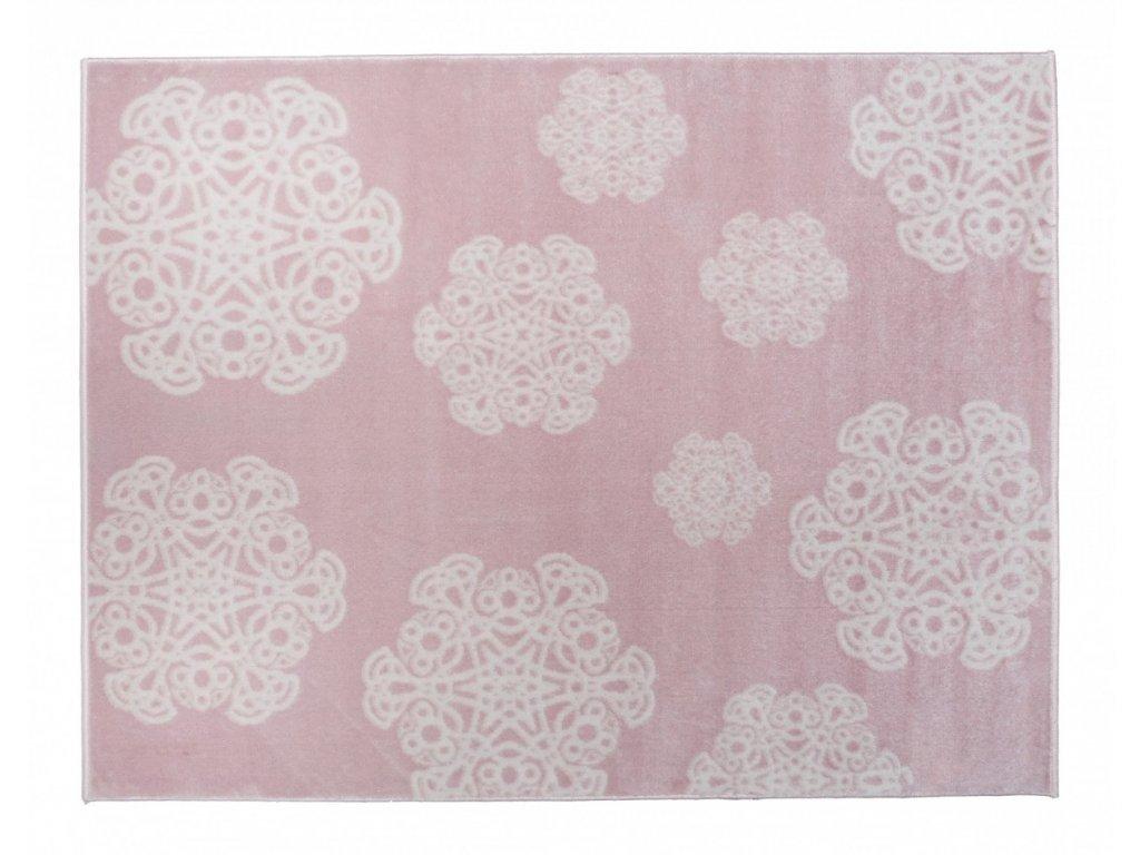 Aratextil Koberec akrylový Mandala růžový 120 x 160 cm