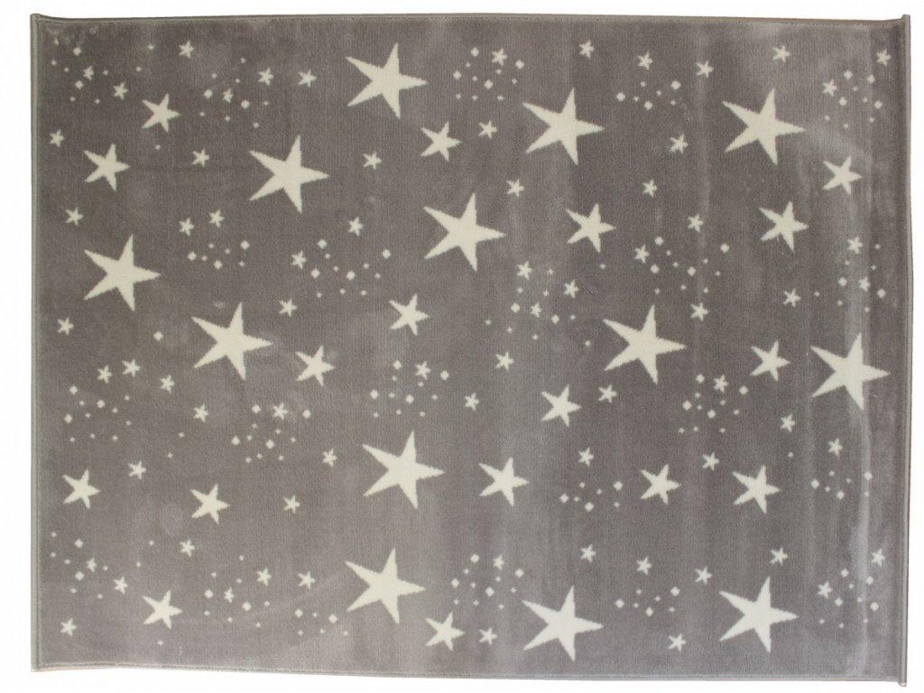 Aratextil Koberec akrylový Estrellas šedý 120 x 160 cm
