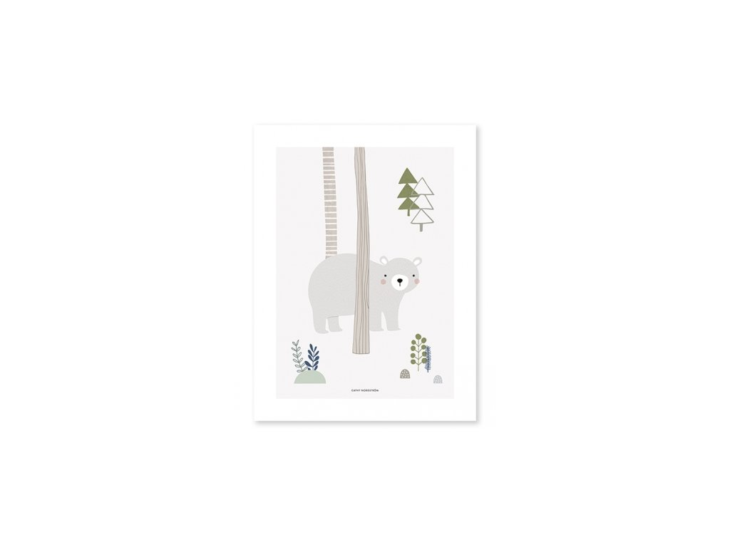 poster oso bosque infantiles bebe lilipinso p0207 (1)