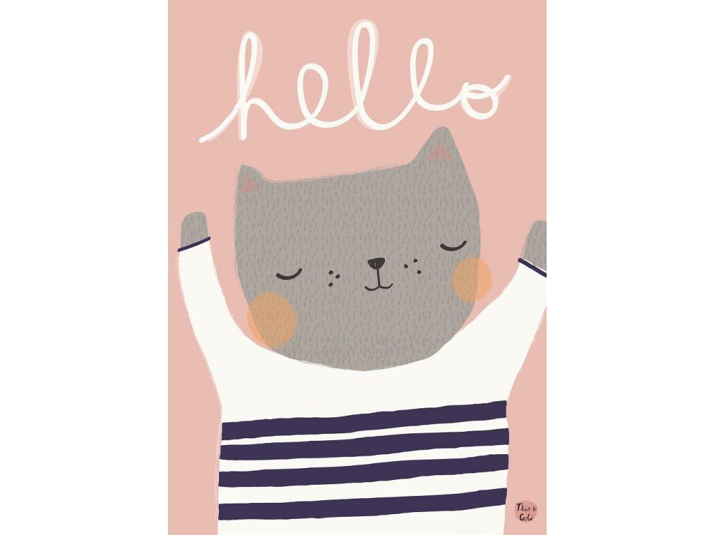 aless baylis poster hello cat 1