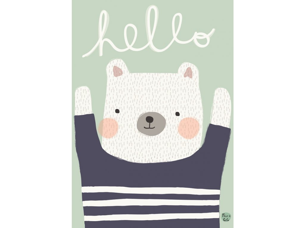 aless bayliss poster hello bear 1
