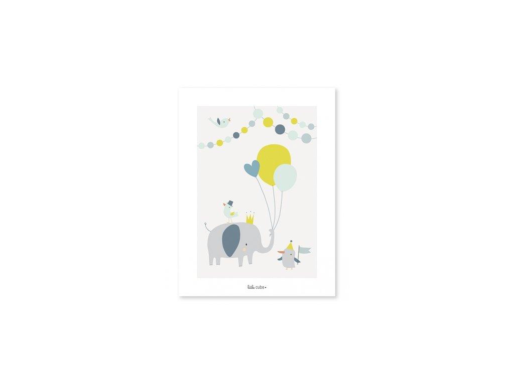 p0196 affiche deco elephant animaux lilipinso 1