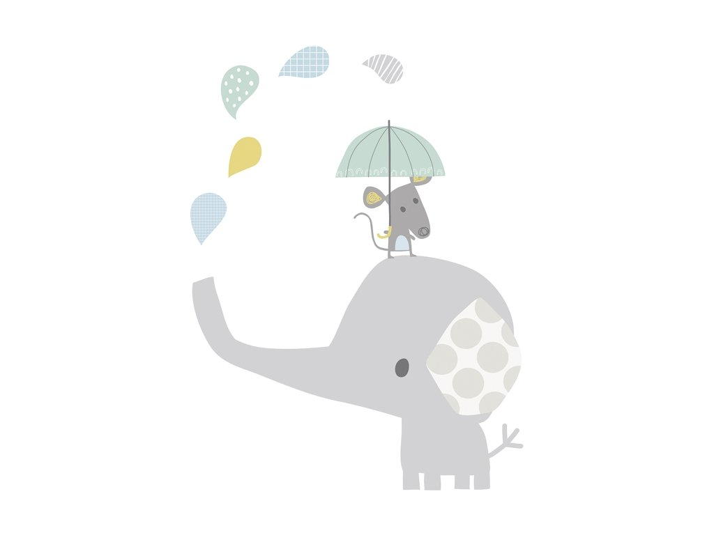 s1059 xl stickers elephant souri deco chambre bebe lilipinso