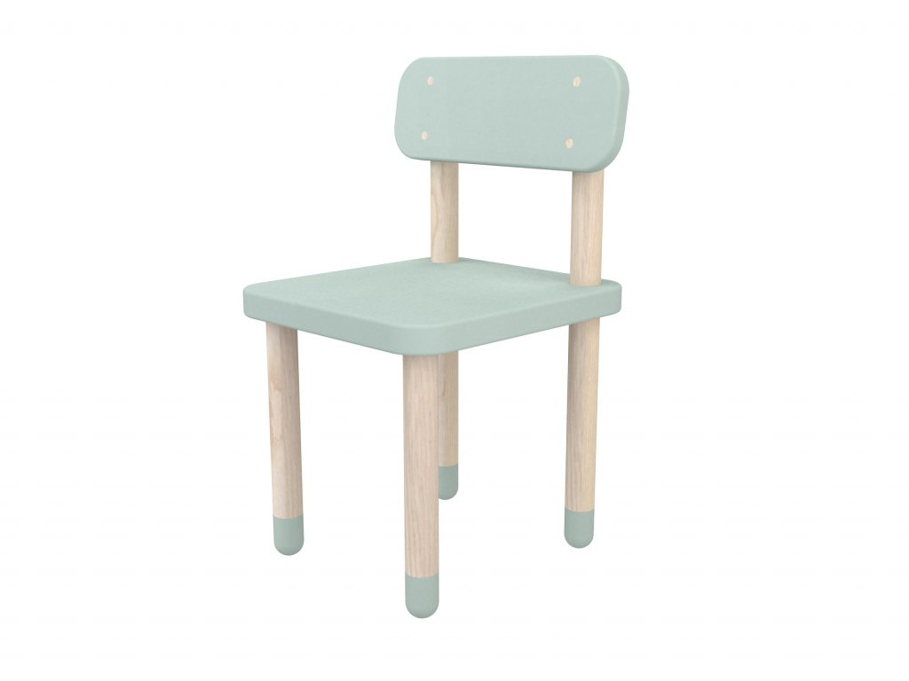 Flexa Židlička s opěrkou mint