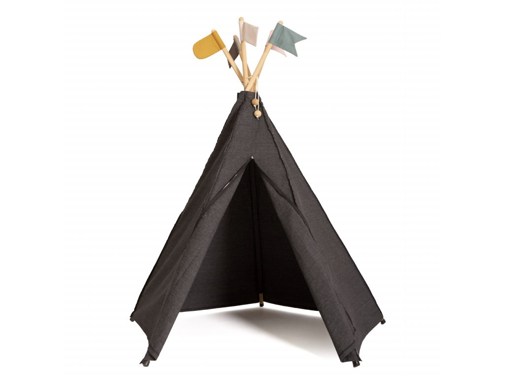 Roommate HippieTipi Anthracite(12980) with flags