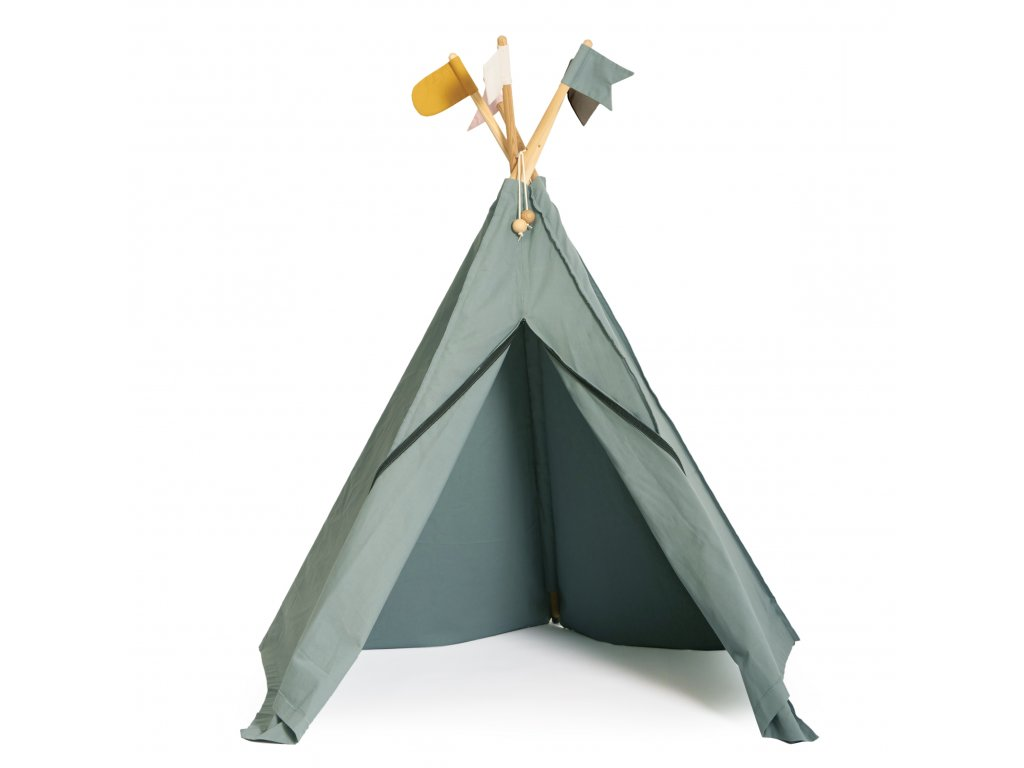 HippieTipi Sea grey (1002858) with flags