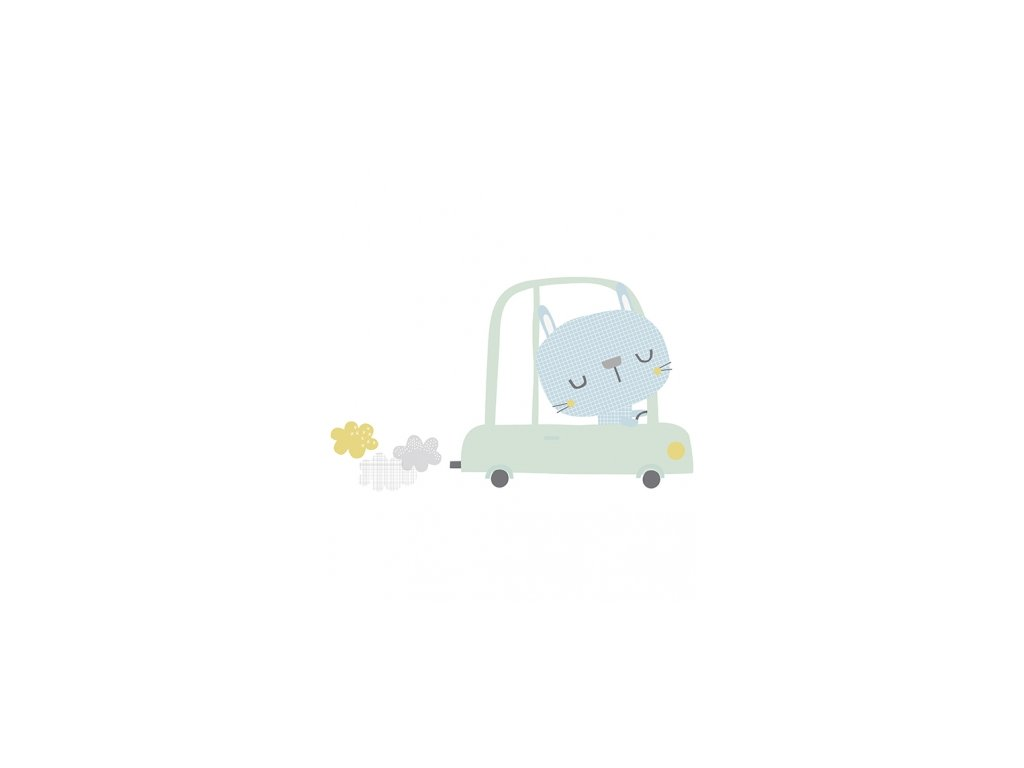 s1065 xl stickers chat voiture deco chambre bebe lilipinso