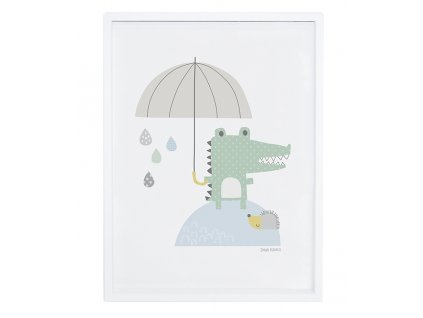 Lilipinso Plakát Crocodile and umbrella 30 x 40 cm