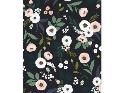 papier peint fleurs bucolique h0538