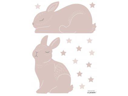 S1367 A3 bunnies rose
