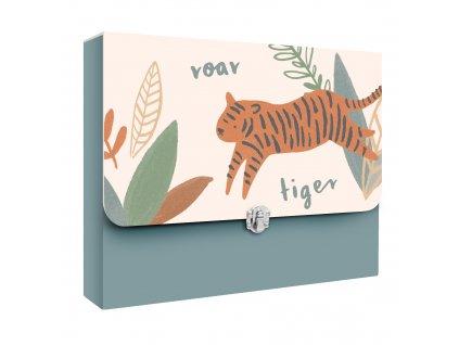 Sebra Kufřík na výkresy Tygr modrý