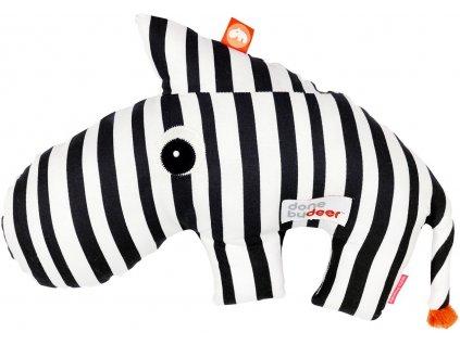 DONE BY DEER Mazlivá 2D hračka Zebee -  černobílá