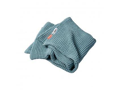 Vaflová deka 80 x 100 cm - modrá