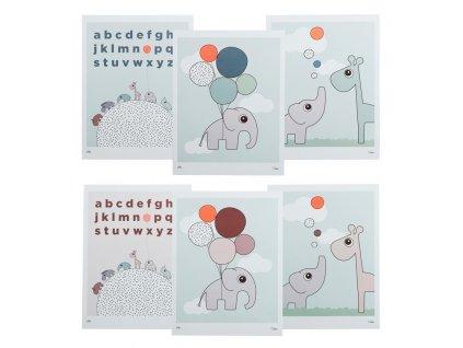 DONE BY DEER Dětské plakáty 3 ks -  oboustranné