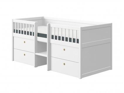 Flexa Dětská postel s úložným prostorem Freja bílá
