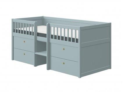 Flexa Dětská postel s úložným prostorem Freja modrá