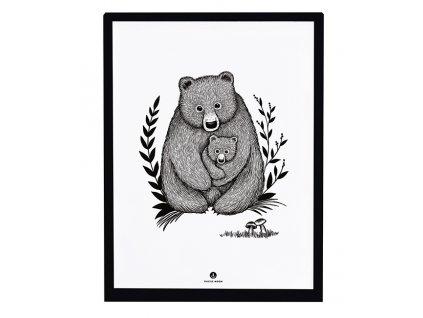 p0299c cadre deco enfant ours ourson lilipinso