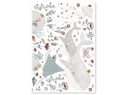 s1410 grand stickers deco animaux ocean