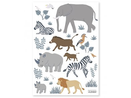 s1397 stickers zebre lion tanzania big five