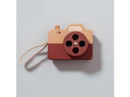 Petit Monkey Dřevěný fotoaparát hnědý