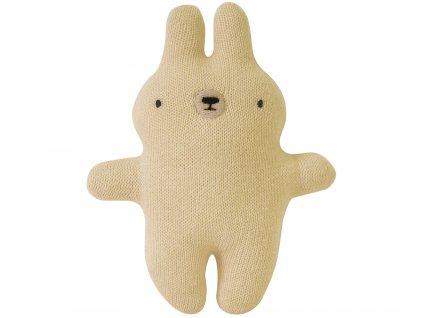 plush rattle bunny gold