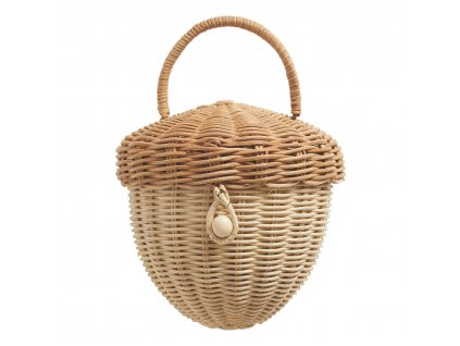 wicker acorn basket