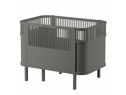 Sebra Dětská rostoucí postýlka Baby & Jr tmavě šedá