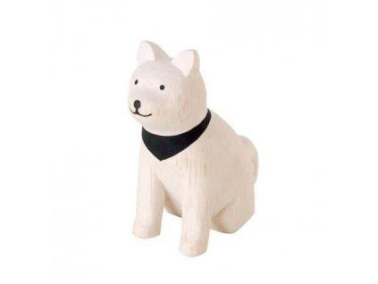 Akita Dog T Lab Polepole Wooden Animal